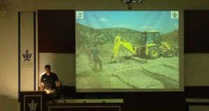"Professor Goren defending ""bulldozer archaeology"""