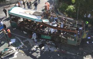 "Rejecting the ""Zionist narrative"": blown up Israeli civilian bus"